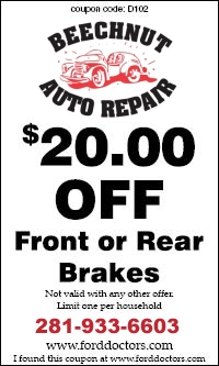 Front/Rear Brakes Coupon