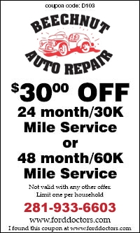 Discount Auto Repair Car Service Coupons Houston